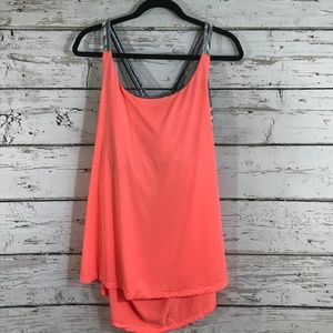 Old Navy Orange Black and White Support Tank